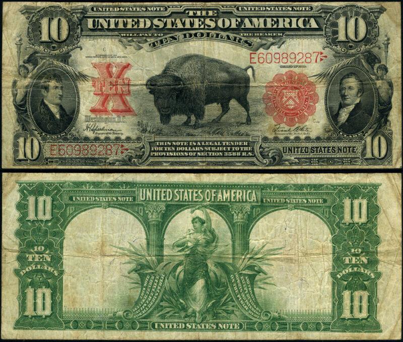 FR. 122 $10 1901 Legal Tender Fine+