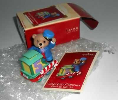Childs Fifth Christmas Ornament - HALLMARK KEEPSAKE CHRISTMAS ORNAMENT - CHILD'S FIFTH CHRISTMAS - NEW IN BOX