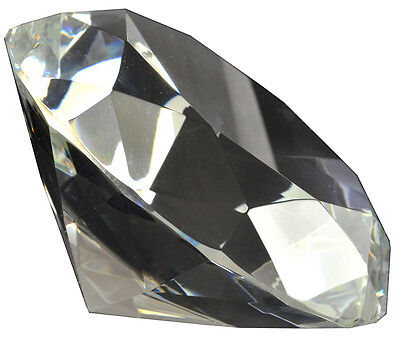 3.15 inch 80mm Clear Crystal Glass Diamond Paperweight