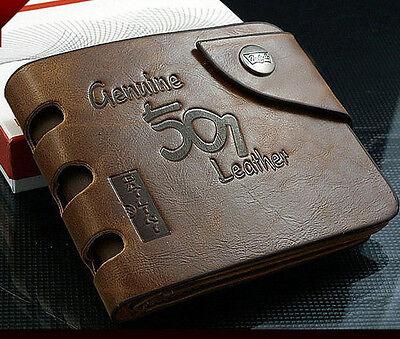 - Fashion Mens Genuine Leather Bifold Wallet Credit/ID Card Holder Slim Coin Purse
