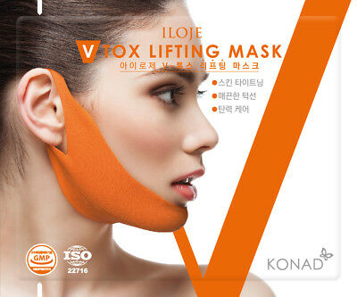 V Tox Lifting Mask Single Tight face & Neck line, Anti-Celluite Mask for Facial