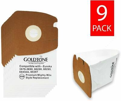 (9) Premium MM Style Replacement Vacuum Bags for Eureka Mighty Mite