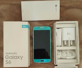 Samsung Galaxy s6 blue Unlocked new in box