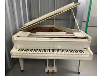 Beautiful White Gloss Challen Baby Grand Piano - Delivery