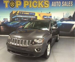 2016 Jeep Compass HIGH ALTITUDE, 4X4, LEATHER, SUNROOF, BACK UP