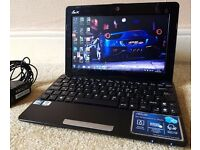"""Mint ASUS 320GB Netbook,10.3"""" LED Display,2GB DDR3 RAM,Quad CPU,wifi,webcam,MS office+Charger"""
