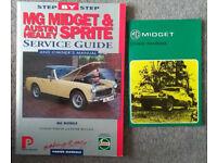 MG Midget service guide (Porter Manuals) and driver's handbook