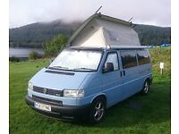 VW T4 Campervan. Fully fitted. Lifting roof. Double bed, Sink, 3 burner hob and grill, fridge, EHU.