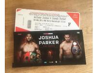 Anthony Joshua Vs. Joseph Parker - 4x Floor Tickets (D10) *Tickets in hand now!* 31st March