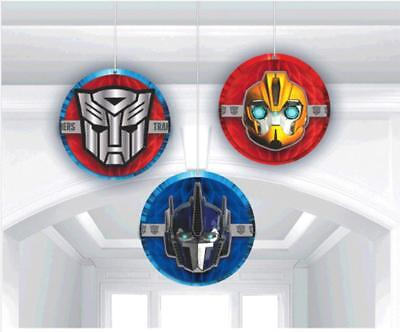 Transformer 4 Core Honeycomb Hanging Decorations 3 Count Party Supplies New