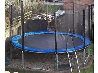12 ft trampoline with enclosure.