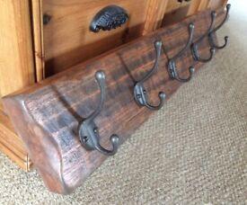Gorgeous chunky solid wood coat racks/hooks