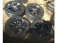 Vauxhall Astra H Black 5 stud Alloys 205/55/16.