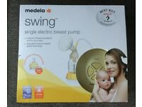 MEDELA SWING ELECTRIC BREAST PUMP - RARELY USED