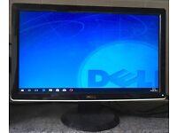 20inch Dell Full HD Widescreen Flat LCD TFT Screen gaming Monitor VGA HDMI computer screen