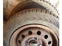 Vredestein Snowtrac tyres X2 size 135/80 R13 M&S good tread