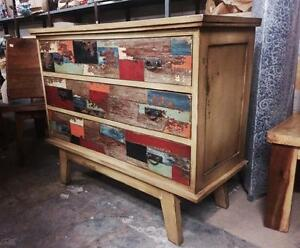Commode Tiroirs Bois Vintage Antique -Indonésie // Wood Chest with Drawers from Indonesia
