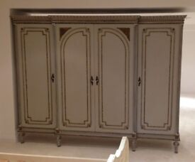 Beautiful Large Free-Standing French Boutique-Style Wardrobe