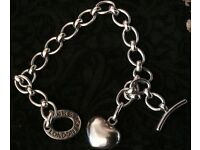 Genuine Links of London Sterling Silver Charm Bracelet and Necklace