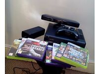 Xbox 360 250GB + Kinect + 7 games (excellent condition)
