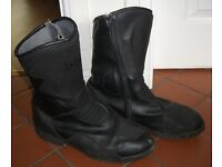 Mens black motorcycle boots size 46 / 11 UK