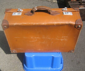 Vintage / Period Leather Suitcase