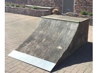 Quarterpipe Ramp for Scootering and Skateboarding