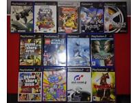 Ps2 Console Silver (orginal, boxed with two pads) with games