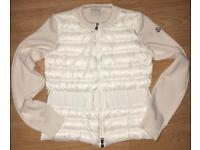Moncler Maglia Cardigan Knitwear Gouse down with Virgin Wool size S / M