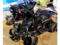 Kidz quad n mini moto selling as pair