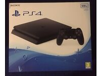 PS4 Slim 500GB (D chasis), Unopened, Sealed Brand New