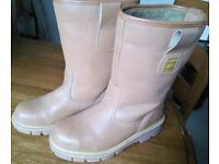 Rigger style steel toecap Boots Size 8