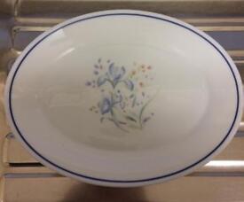 Set of Six Pyrex 'Blue Iris' Steak Plates