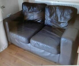 EX DISPLAY NEXT LEATHER 2+2 SOFA SET DELIVERY FREEE