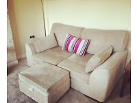 SCS Portland range - 2 seater sofa, 2 chairs and footstool