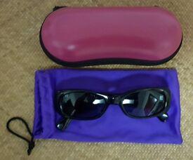 eb502a9e8b64 Women s Black Sunglasses in Pink Hard Case