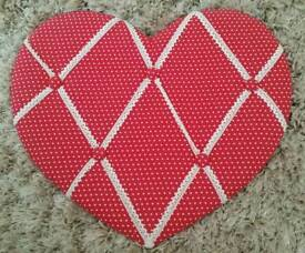 LARGE HEART NOTICEBOARD