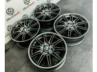 """GENUINE BMW MV4 19"""" ALLOY WHEELS *AVAILABLE WITH TYRES* - 5 x 120 - GLOSS GREY - 2220"""