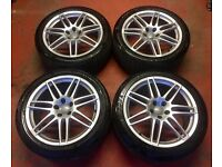 19'' GENUINE AUDI A6 S LINE RS4 LE MANS NEW MODEL ALLOY WHEELS TYRES 5X112 FITMENT A4 B8