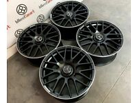 """BRAND NEW MERCEDES 19"""" 20"""" 63AMG STYLE ALLOY WHEELS - AVAILABLE WITH TYRES - 5 X 112 - SATIN BLACK"""