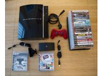 PS3 original/launch 60Gb (Sony Playstation 3) with 21 Games, Playstation Eye, Play TV