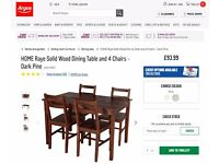 Dining table and chairs - kitchen table - 4 chairs £50