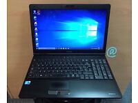 Toshiba i3 Fast HD Laptop, 6GB Ram, 320GB, Genuine Windows 10, Microsoft office, Good Condition