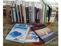 For sale: a collection of technolgy text books.