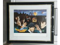 Limited Edition Very Rare Beatles Print The Fab Four by Trevor Horswel