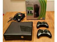 Xbox 360 bundle, 2 controllers, 11 games, headset