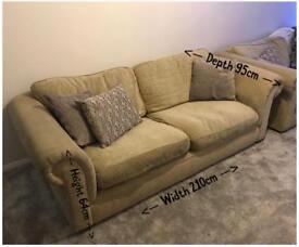 Two 3 seater Sofas- £40