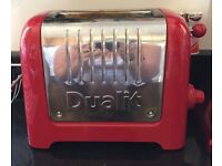 Duolit Classic 2-slice toaster. Red. Good condition.