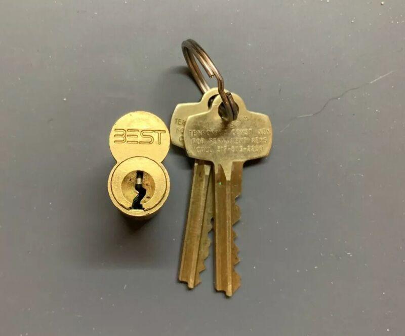 "BEST SFIC 7-Pin Brass Core Keyed w/ Control ""A"" Keyway"