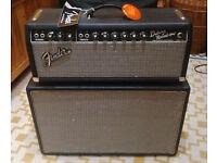 Fender '65 Deluxe Reverb-Amp head & 2x12 Egnater cab